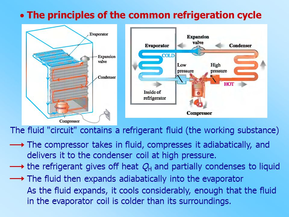  The principles of the common refrigeration cycle