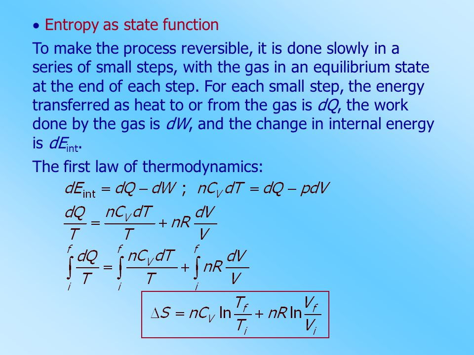  Entropy as state function