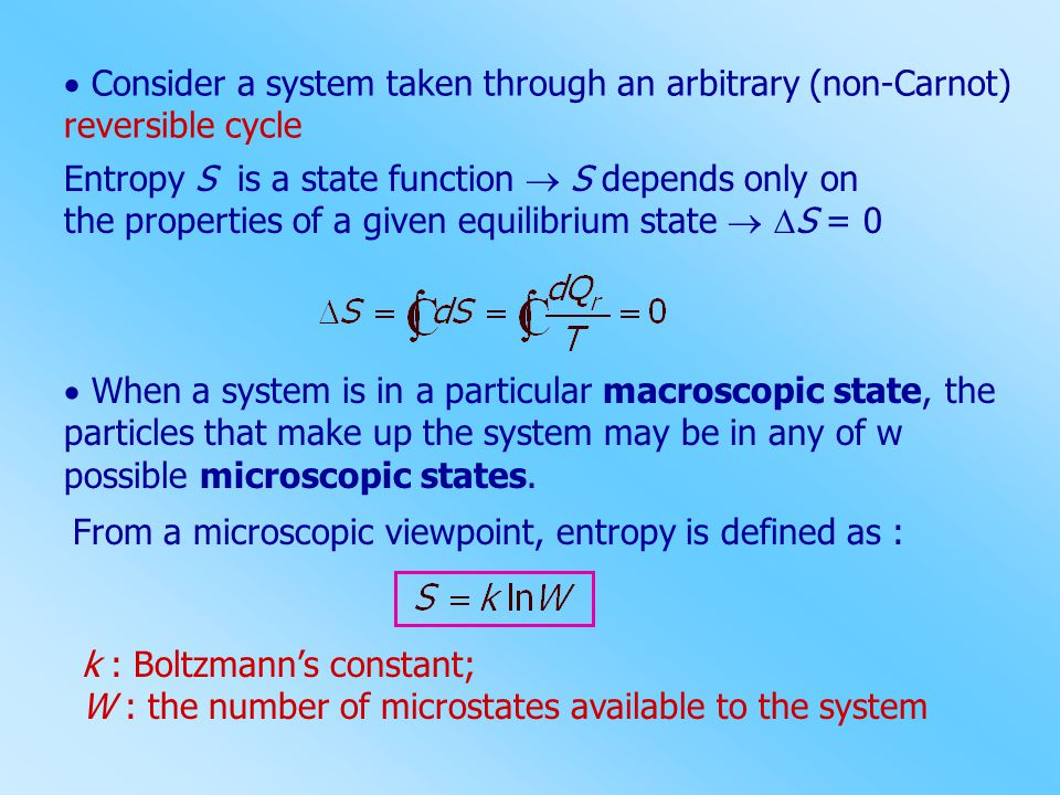  Consider a system taken through an arbitrary (non-Carnot) reversible cycle