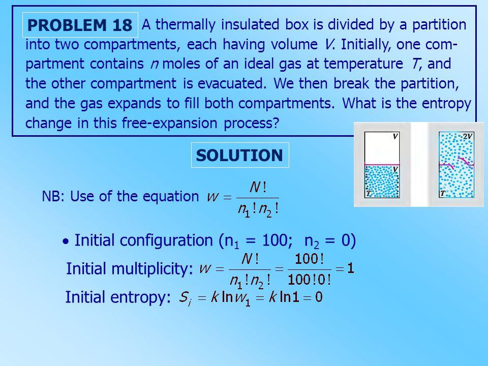  Initial configuration (n1 = 100; n2 = 0)
