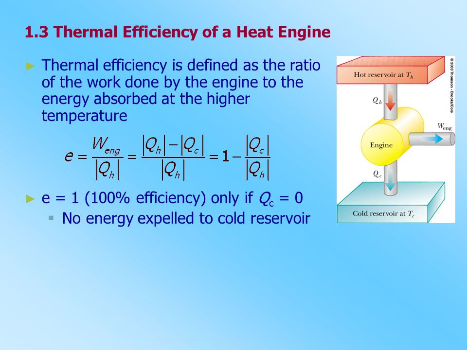 1.3 Thermal Efficiency of a Heat Engine