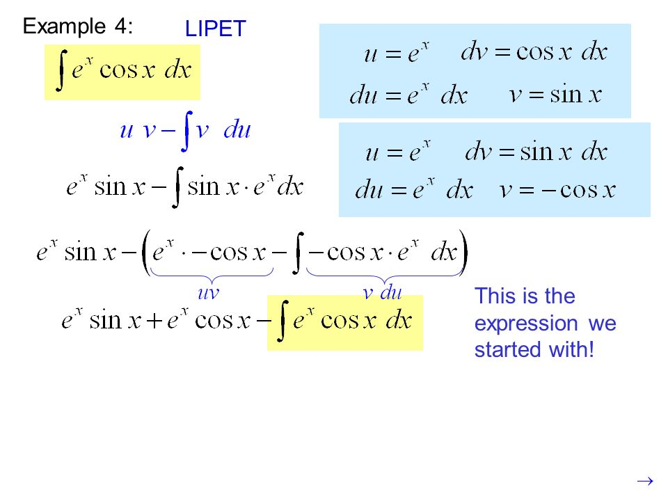 Example 4: LIPET This is the expression we started with!