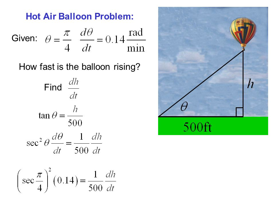 Hot Air Balloon Problem: