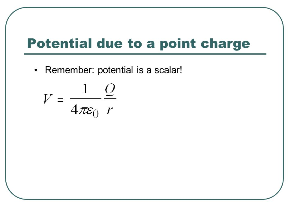 Potential due to a point charge