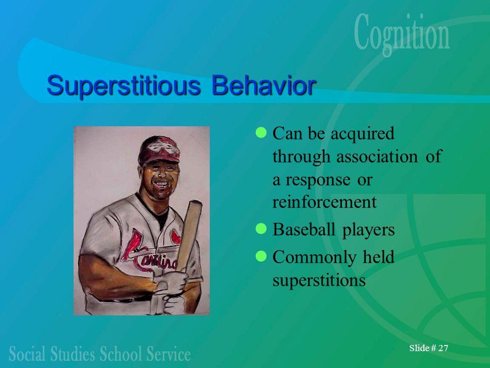 Superstitious Behavior