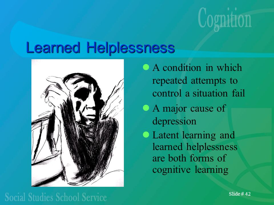 Learned HelplessnessA condition in which repeated attempts to control a situation fail. A major cause of depression.