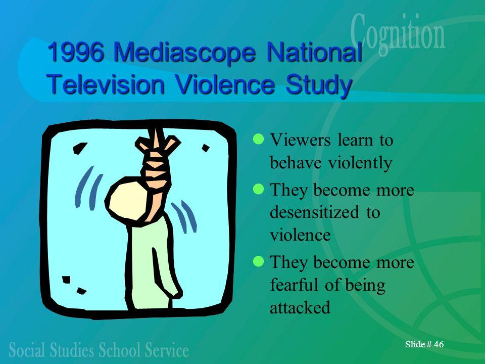1996 Mediascope National Television Violence Study