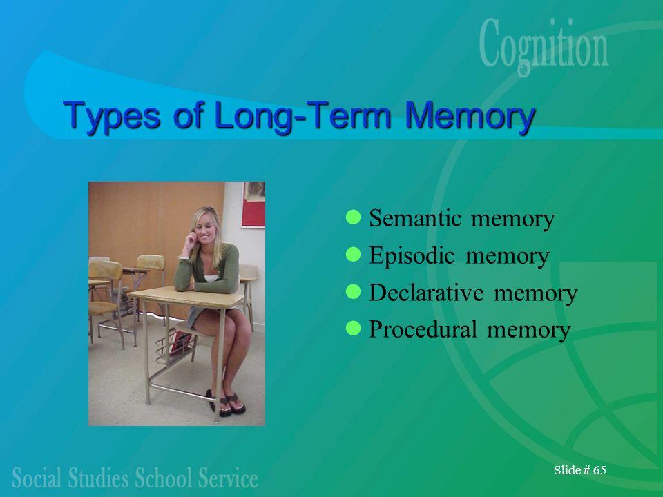 Types of Long-Term Memory