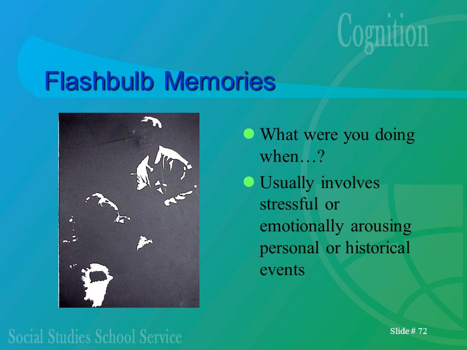 Flashbulb Memories What were you doing when…