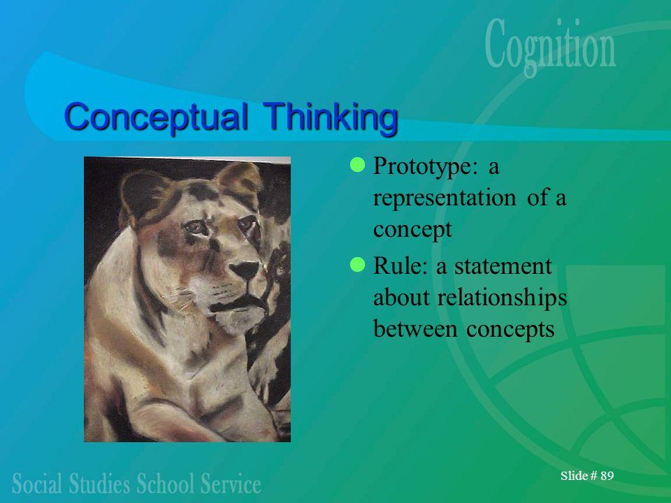 Conceptual Thinking Prototype: a representation of a concept