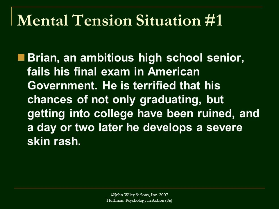 Mental Tension Situation #1
