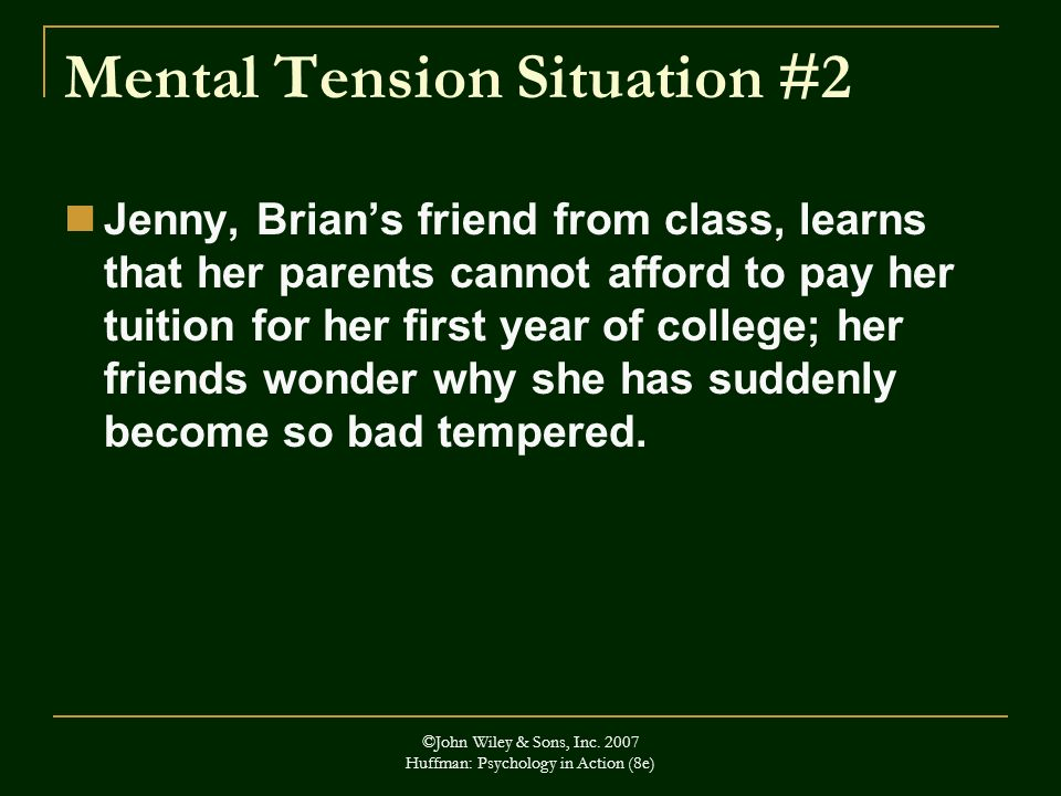 Mental Tension Situation #2