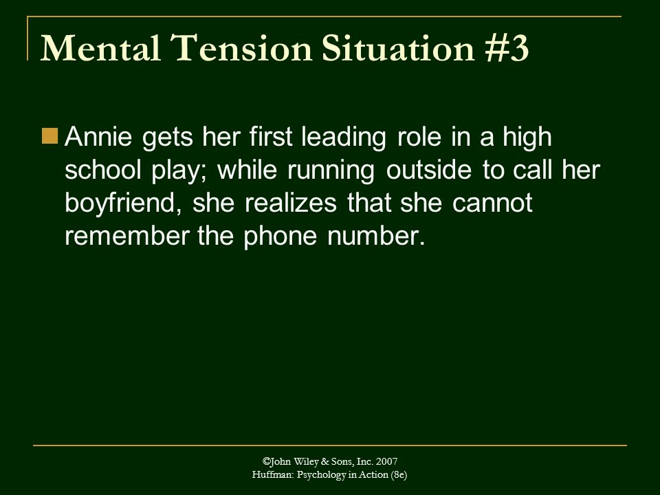 Mental Tension Situation #3