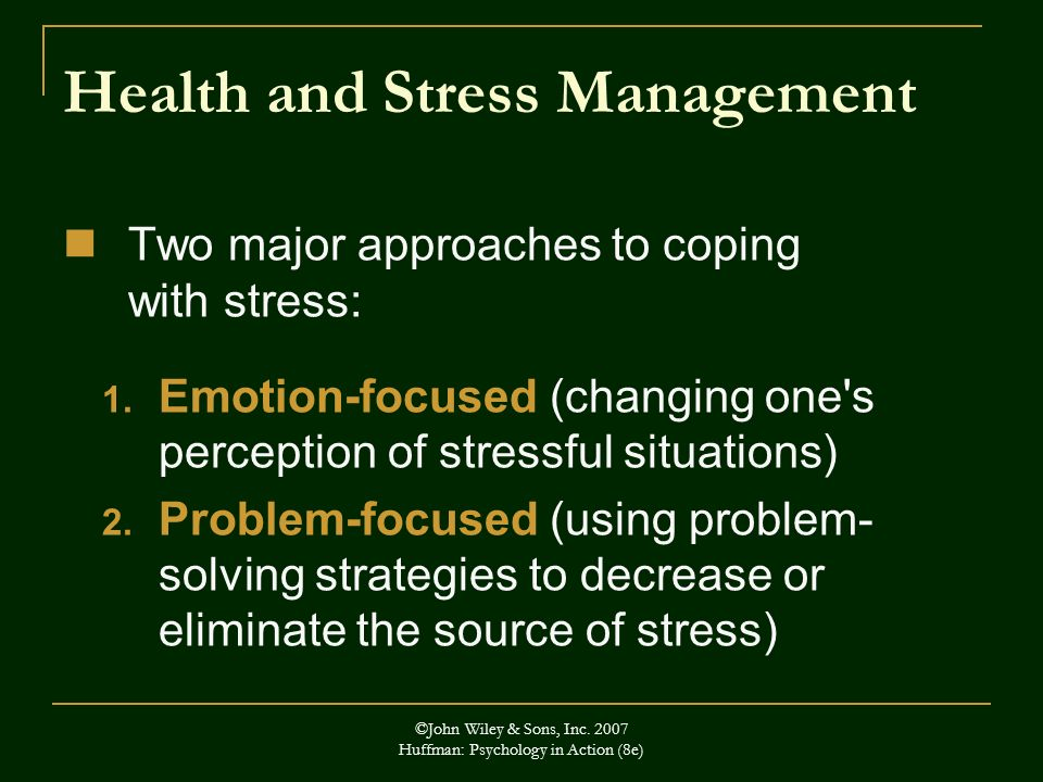 Health and Stress Management