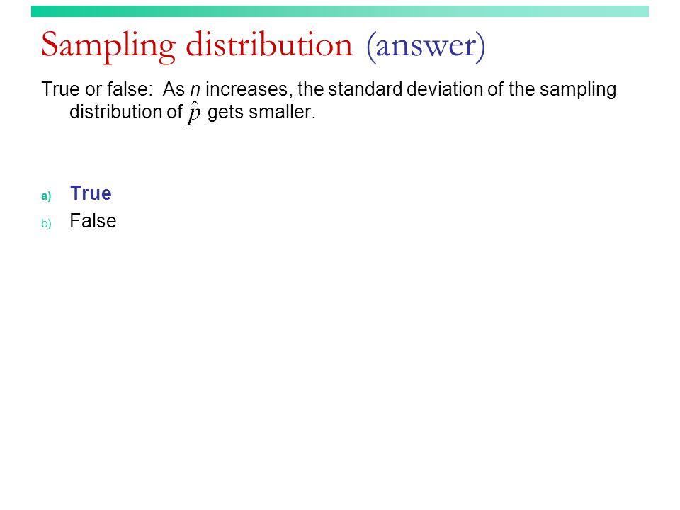 Sampling distribution (answer)