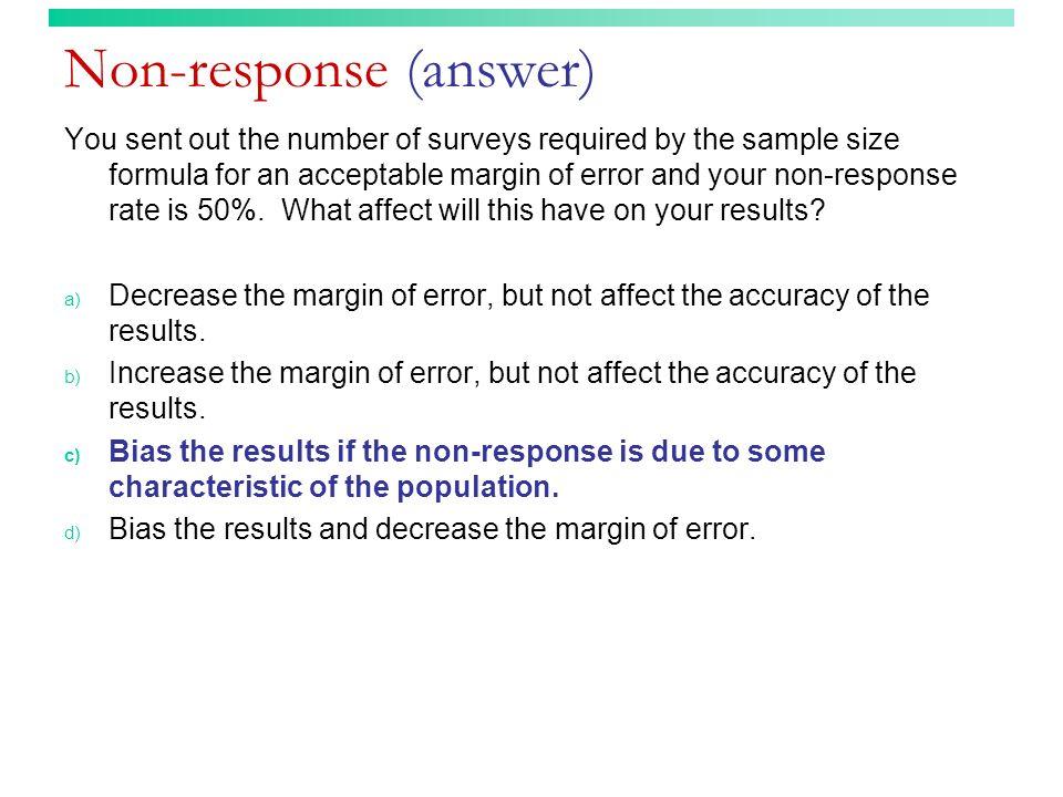 Non-response (answer)