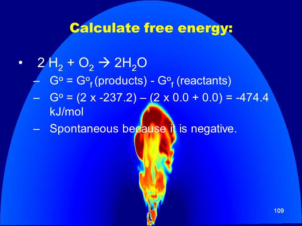 Calculate free energy:
