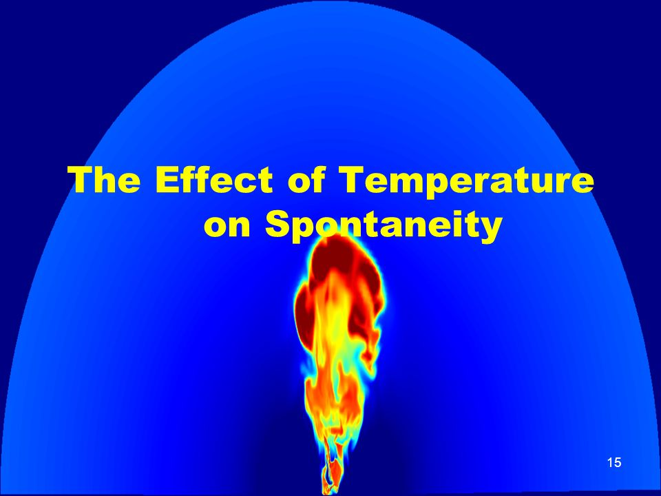 The Effect of Temperature on Spontaneity