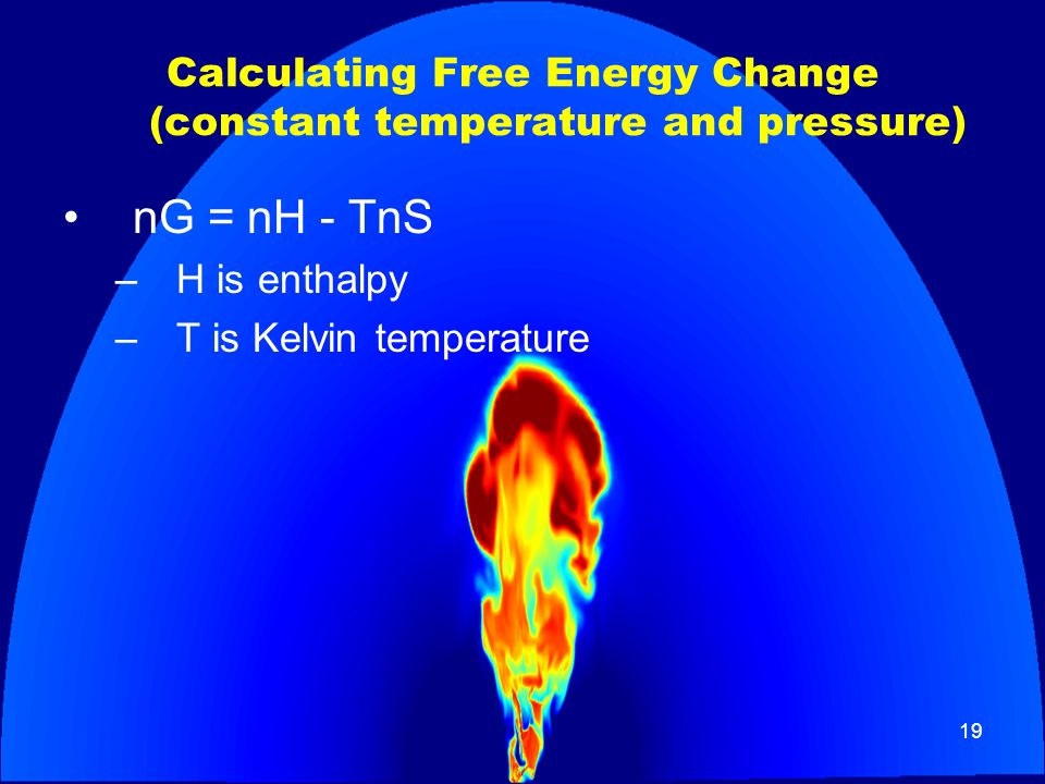 Calculating Free Energy Change (constant temperature and pressure)