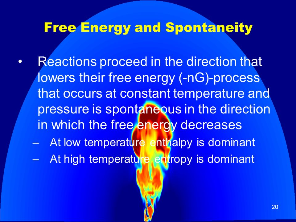 Free Energy and Spontaneity