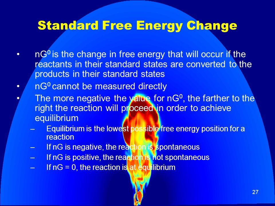 Standard Free Energy Change