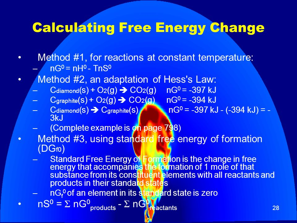 Calculating Free Energy Change