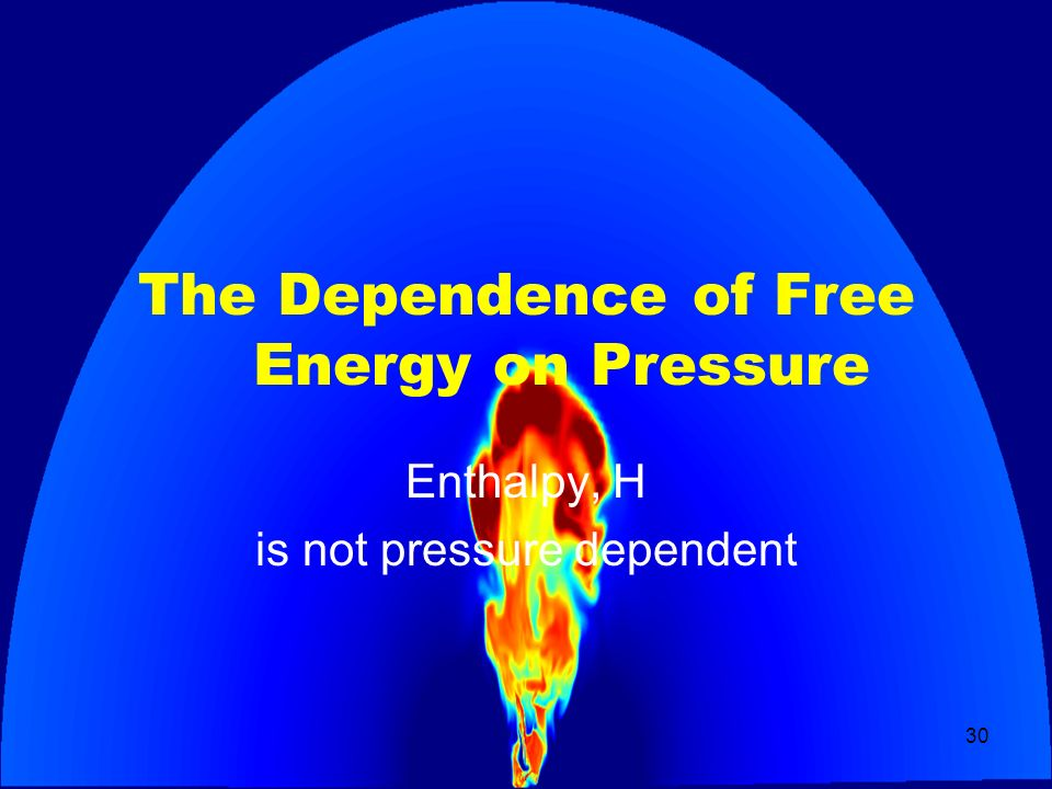 The Dependence of Free Energy on Pressure