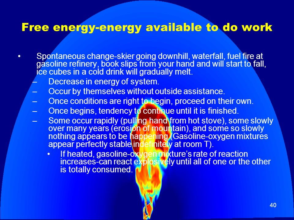 Free energy-energy available to do work