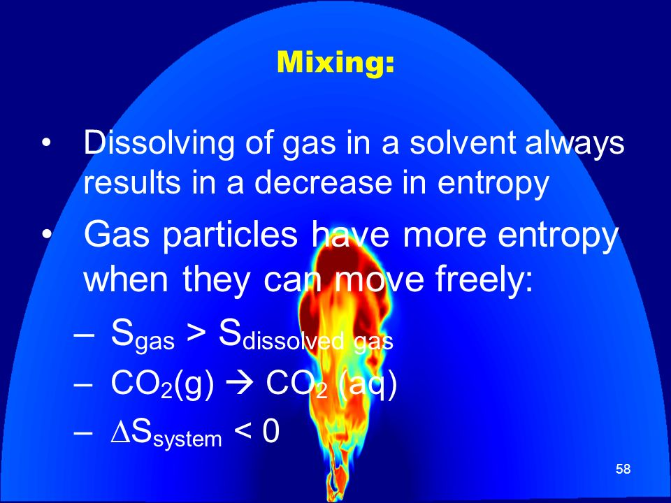 Gas particles have more entropy when they can move freely: