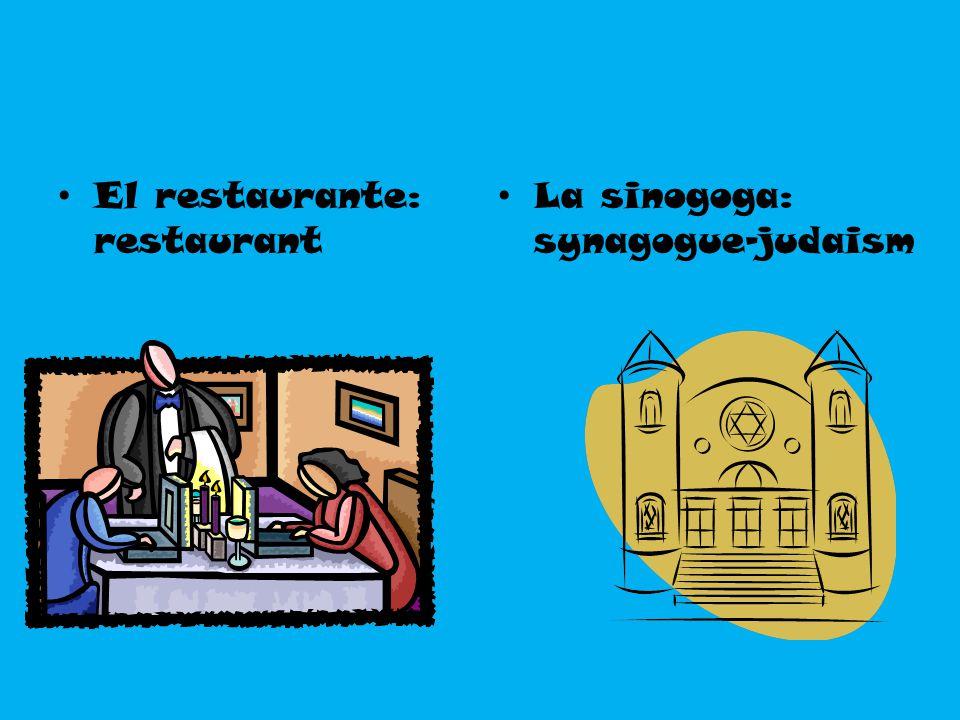 El restaurante: restaurant