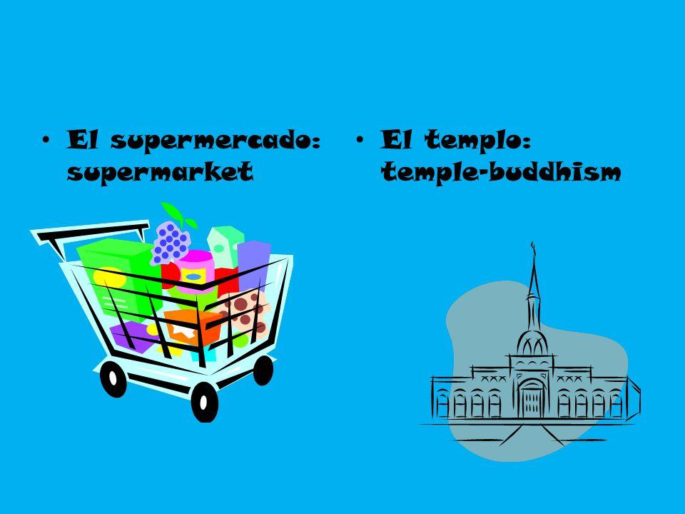 El supermercado: supermarket