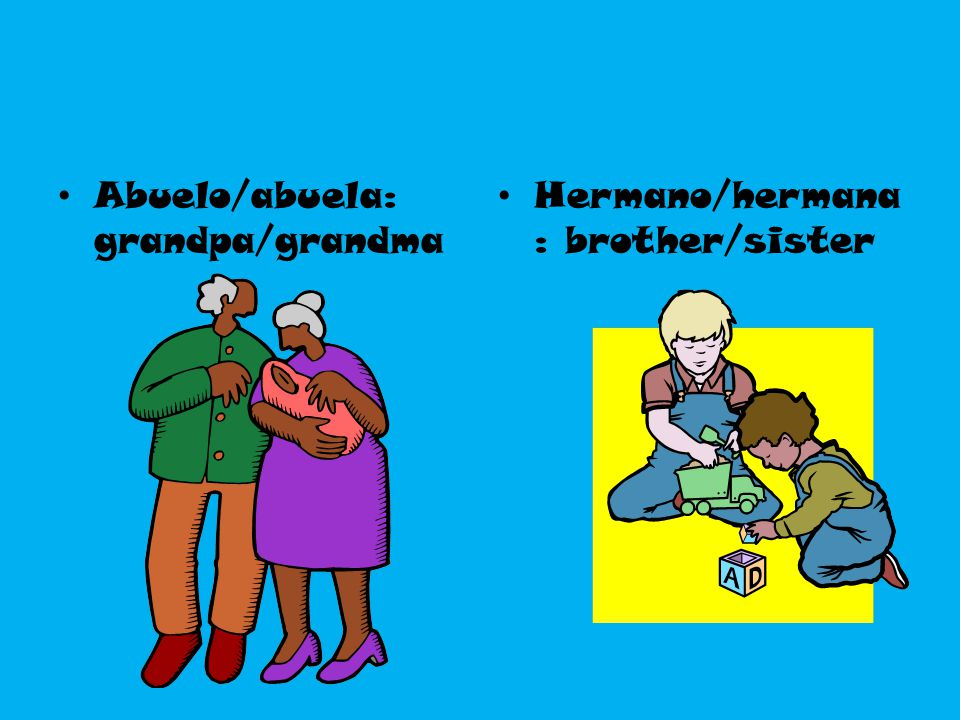 Abuelo/abuela: grandpa/grandma
