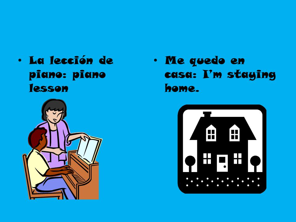 La lección de piano: piano lesson