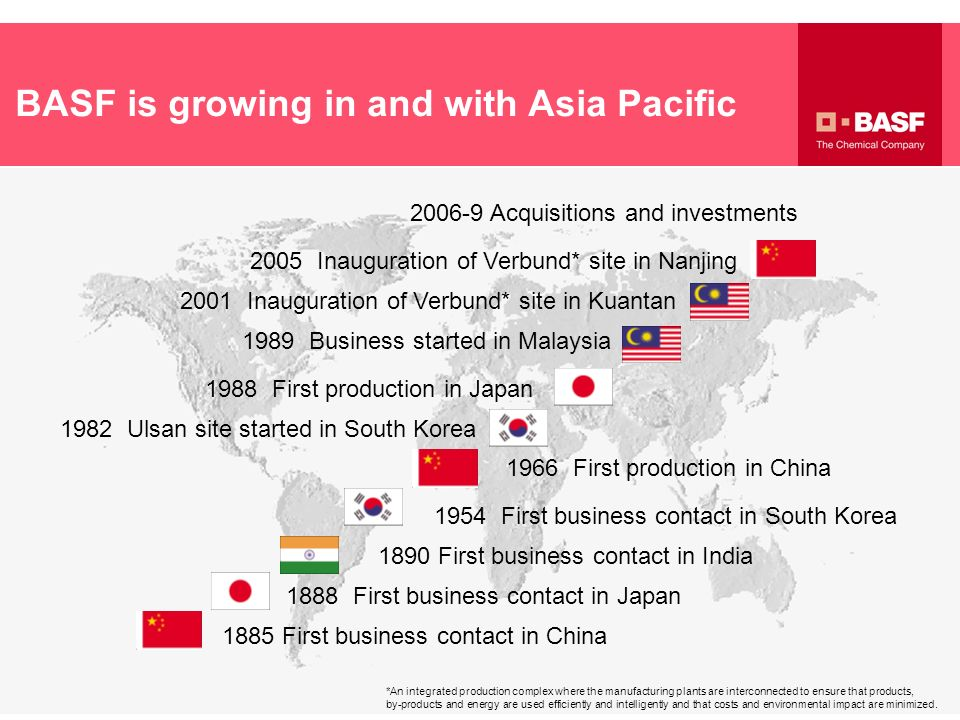 BASF is growing in and with Asia Pacific