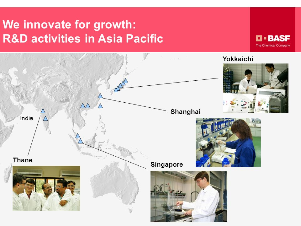 We innovate for growth: R&D activities in Asia Pacific