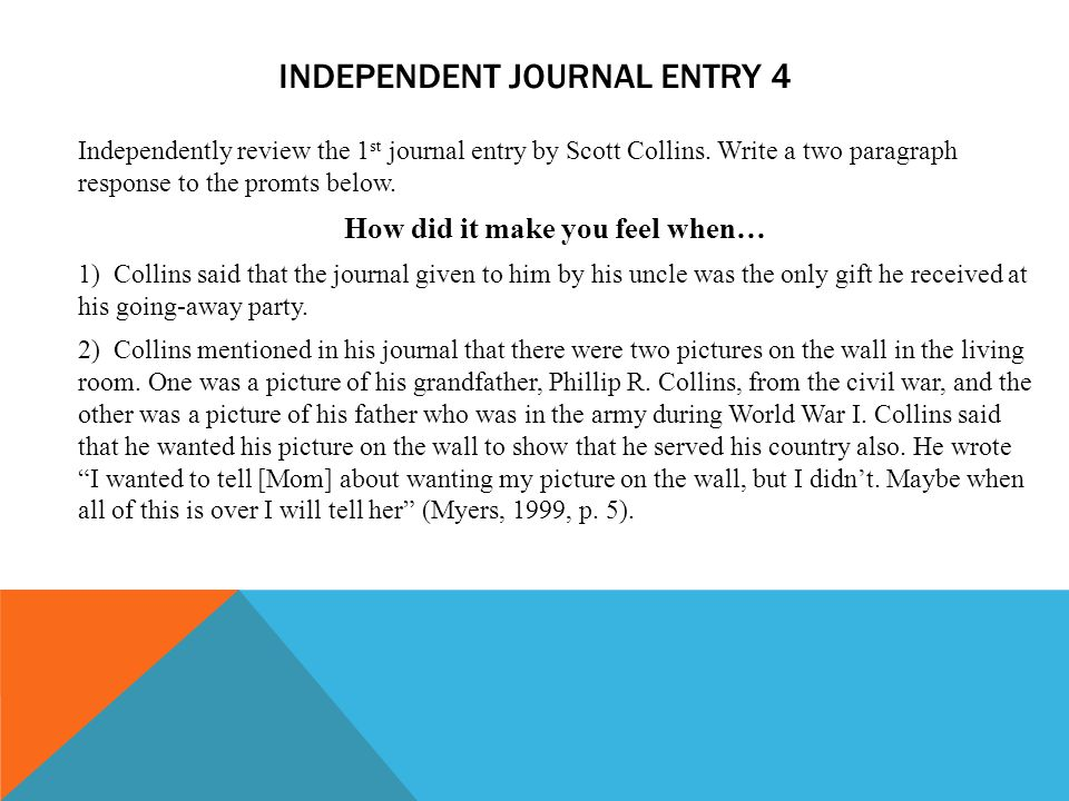 Independent Journal entry 4