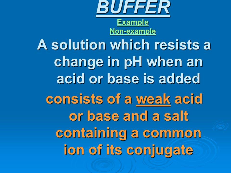 BUFFER Example Non-example