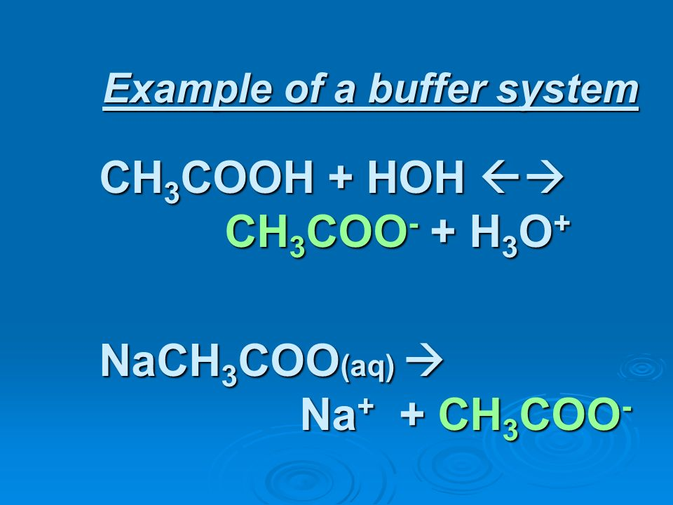Example of a buffer system