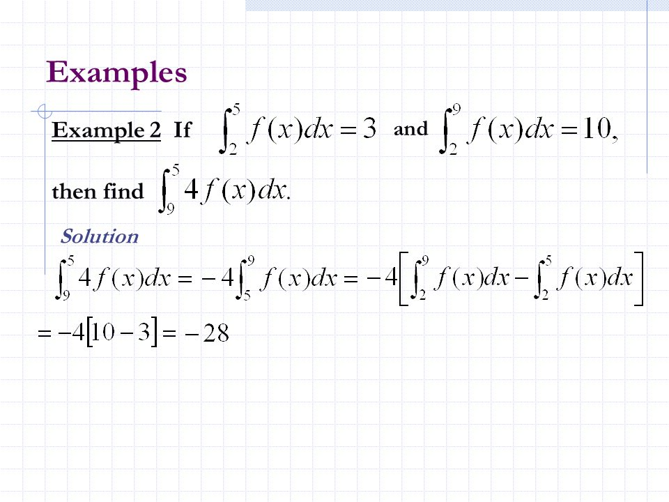 Examples Example 2 If and then find Solution
