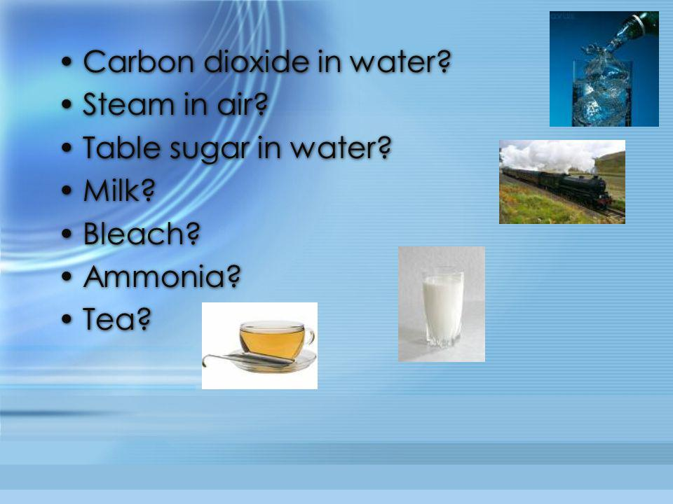 Carbon dioxide in water