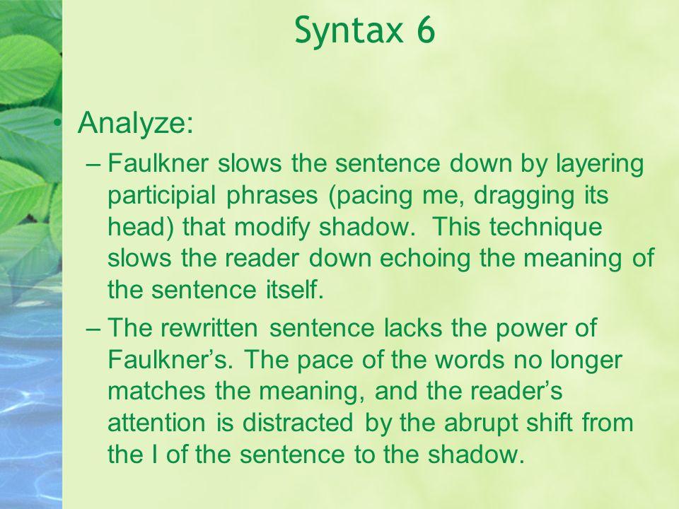 Syntax 6Analyze: