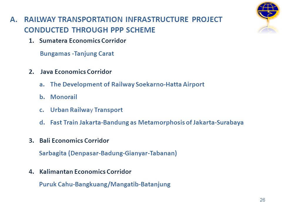 A. RAILWAY TRANSPORTATION INFRASTRUCTURE PROJECT CONDUCTED THROUGH PPP SCHEME