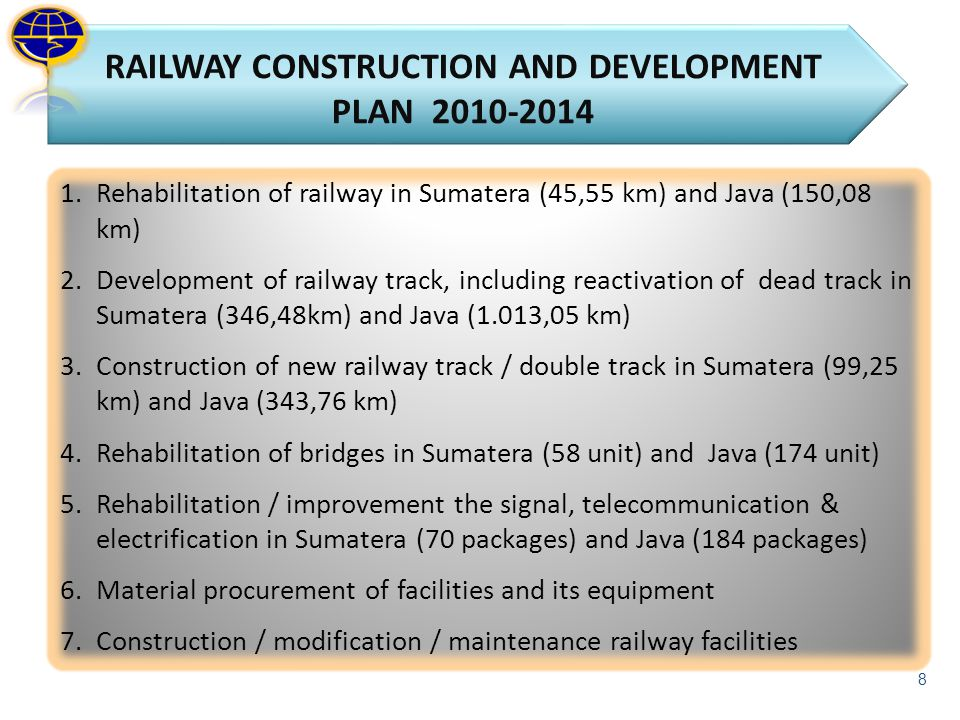 RAILWAY CONSTRUCTION AND DEVELOPMENT PLAN 2010-2014