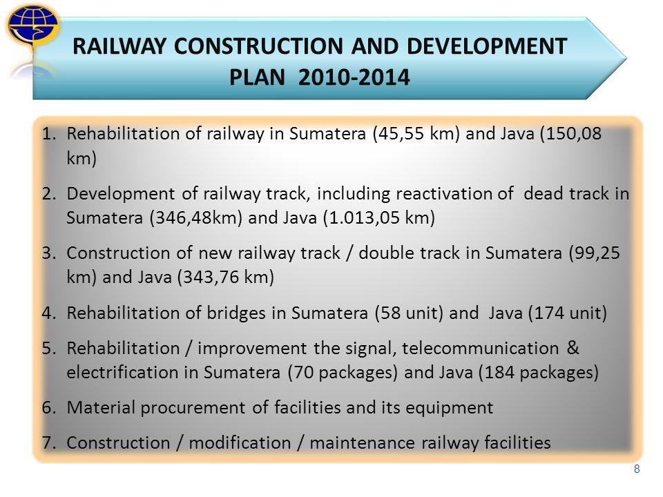 RAILWAY CONSTRUCTION AND DEVELOPMENT PLAN 2010-2014