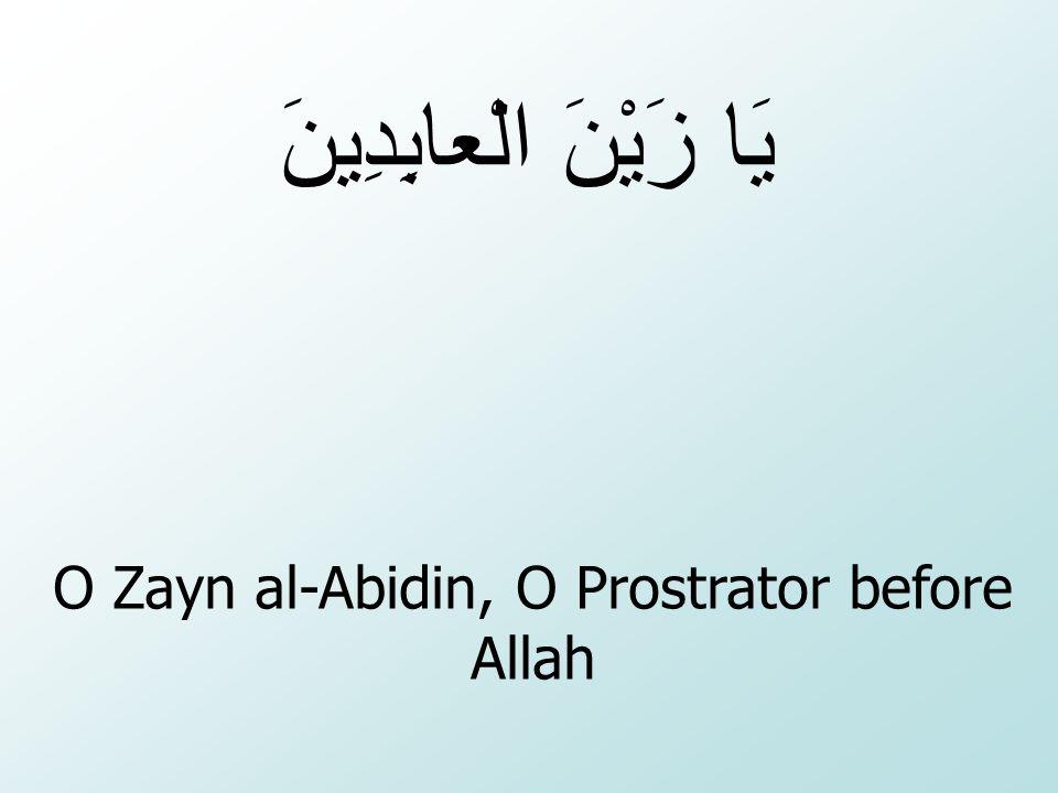 O Zayn al-Abidin, O Prostrator before Allah