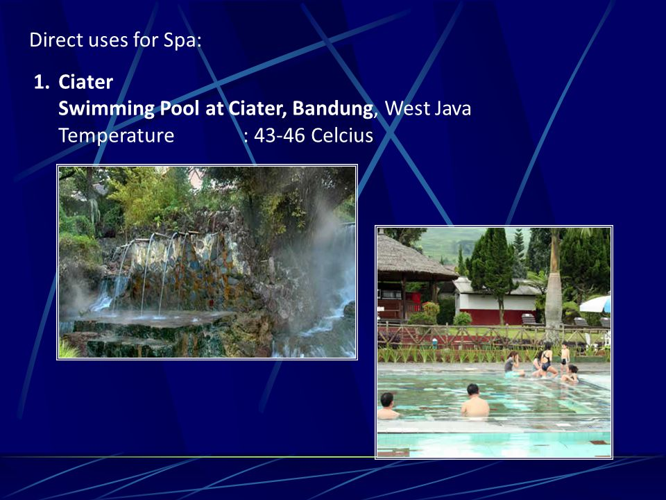 Direct uses for Spa: Ciater. Swimming Pool at Ciater, Bandung, West Java.
