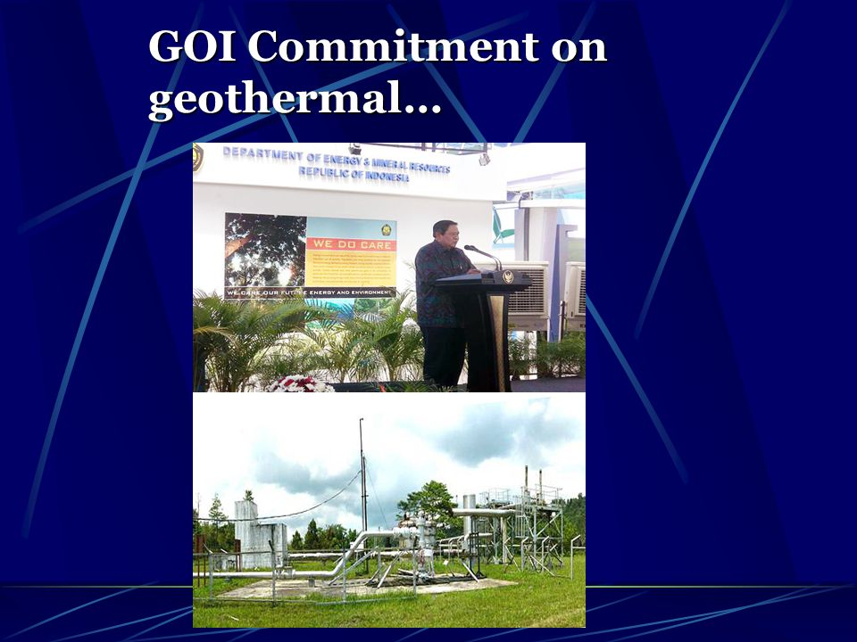 GOI Commitment on geothermal…