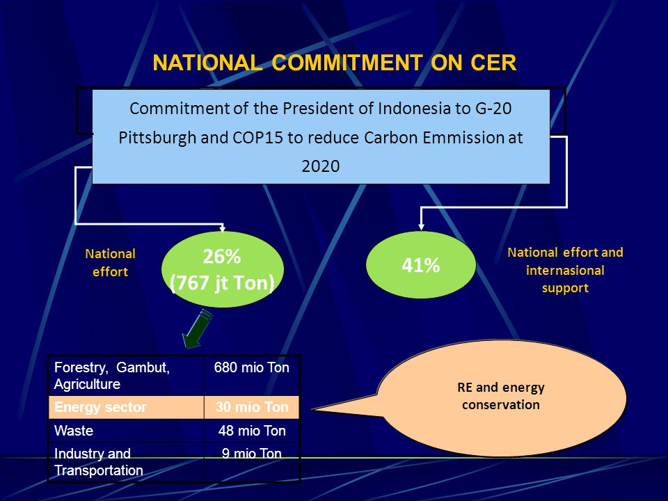 NATIONAL COMMITMENT ON CER