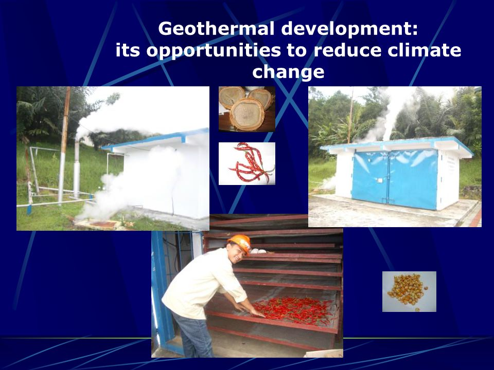 Geothermal development: its opportunities to reduce climate change