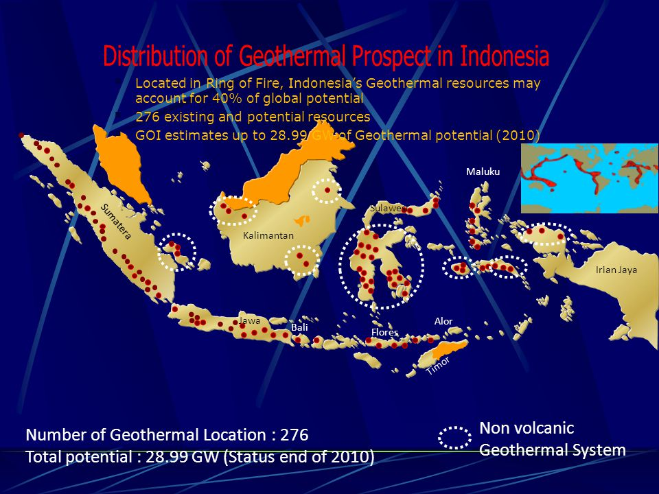 Distribution of Geothermal Prospect in Indonesia